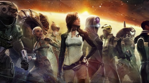 Mass Effect 2 allies. Its up to you to save them, if you can.