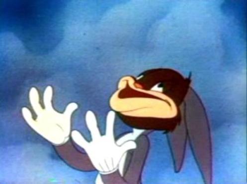 An insane Bugs Bunny level reaction.