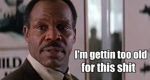 Roger Murtaugh: the patron saint of grumpy old black men.
